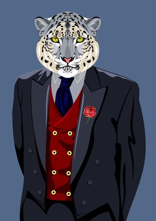 mans: Bars in the business mans suit Illustration