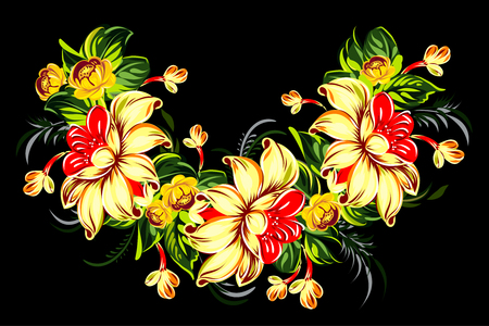single flower: garland of wildflowers
