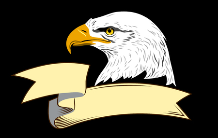 Portrait of an eagle and banner