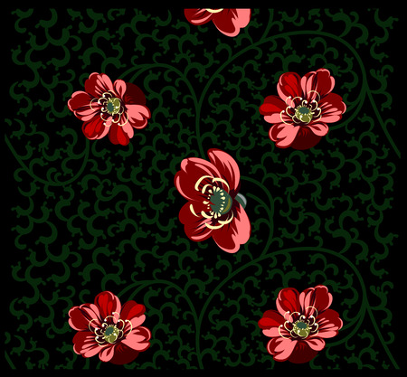 effortless: Background with floral ornament in the Chinese style