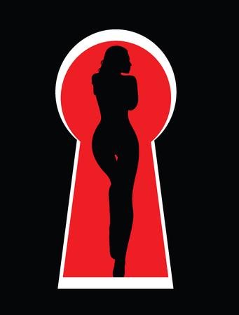 keek: girl in the keyhole