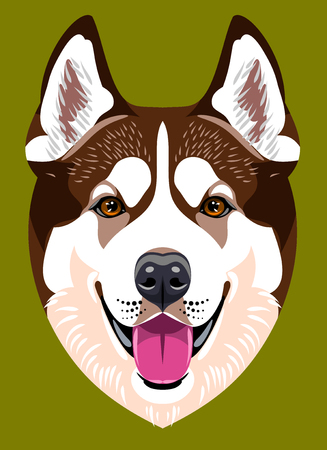 Retrato de un perro Husky raza ??