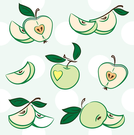 greengrocery: A set of images of apples Stock Photo
