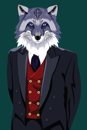 costume eye patch: fox in the mens business suit