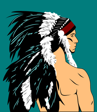 indian chief: indian chief Stock Photo