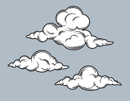 Set of clouds image Illustration