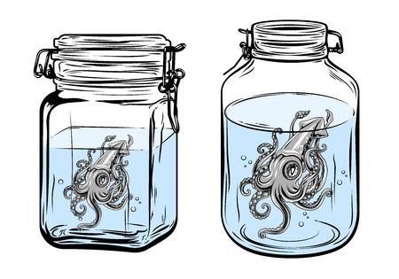 Squid in a bottle