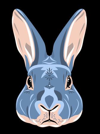 Portrait of a gray rabbit Stock Photo