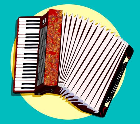 Francés acordeón instrumento popular