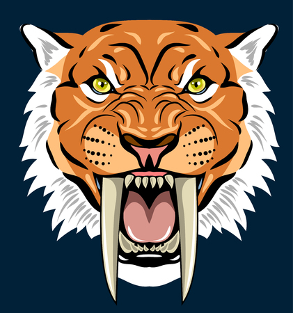 Portrait of a grin, the saber-toothed tiger