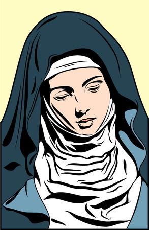 Ikone mit dem Bild der Jungfrau Maria (Madonna)