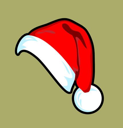Beautiful girl in a Santa Claus hat