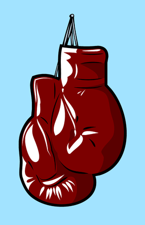 Boxing gloves in the old school style Illustration