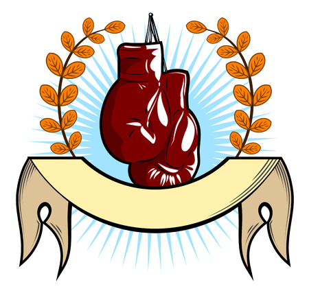 Boxing gloves in the old school style Vectores