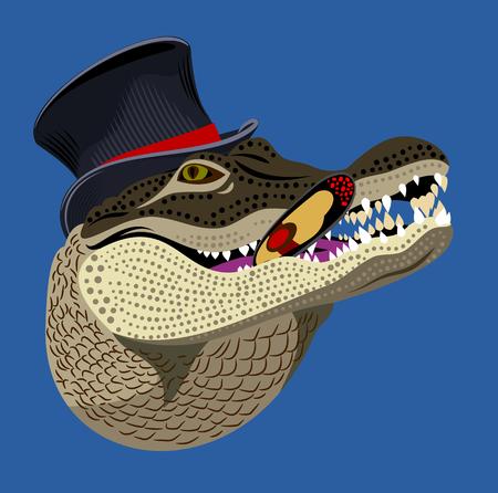Portrait of an Alligator