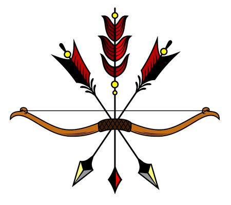 矢印の弓し、ベクター グラフィックを文字列します。