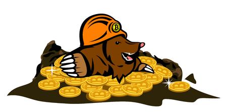 ほくろ、bitcoins を発見しました。
