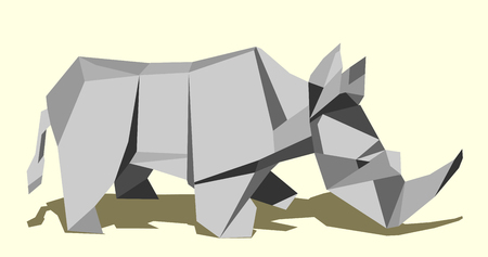 Rhinoceros, simple abstract image