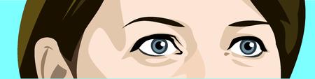 Amazing female eyes, a surprise