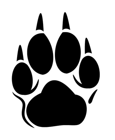 Vector footprint of a dog or a wolf