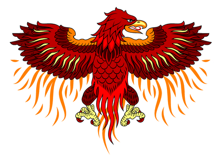 Phoenix rose from the flames 向量圖像