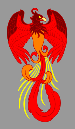Phoenix rose from the flames Ilustrace