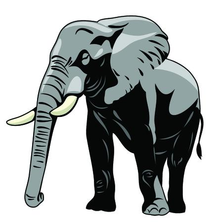Vector image The majestic elephant 写真素材 - 106926689