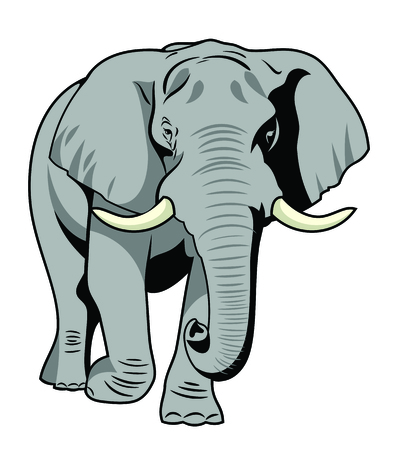 Immagine vettoriale Il maestoso elefante Vettoriali