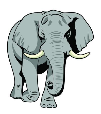 Vector afbeelding De majestueuze olifant Vector Illustratie