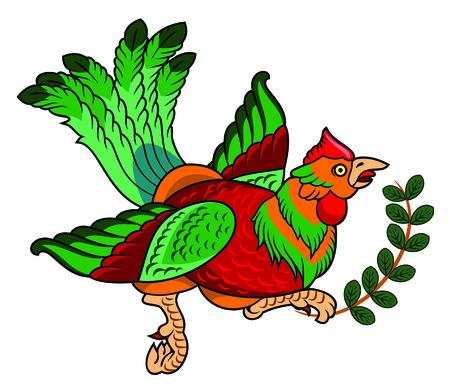 beautiful bird with long tail Illustration