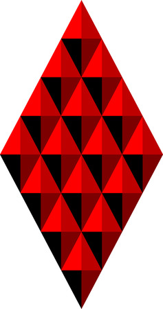 Abstract geometric background of rhombuses and triangles in red tones Çizim