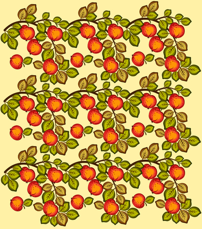 Red apples on branches