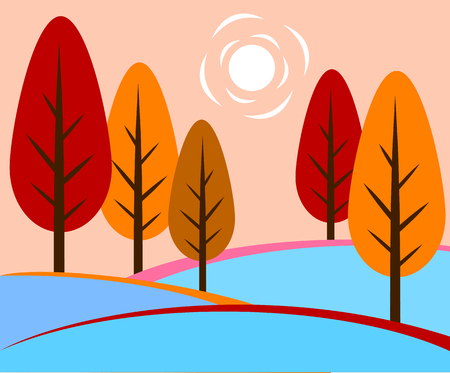autumn landscape Stock Vector - 122683807