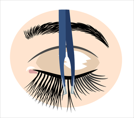 tweezers for artificial eyelashes