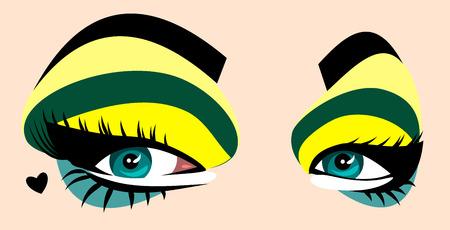 beautiful, expressive green eyes women