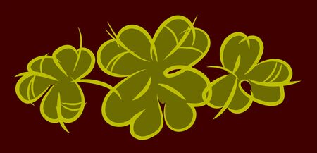clover leaves, vector drawing Illustration