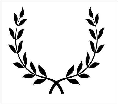 crossed olive branches, symbol of victory