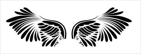 a pair of bird wings Illustration