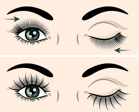 Eyes with extended artificial eyelashes Stok Fotoğraf - 130800597