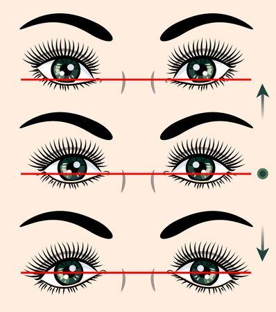 Various forms of human eyes