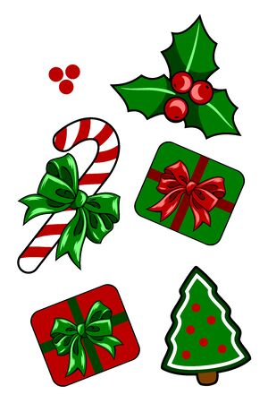 A set of Christmas decorations