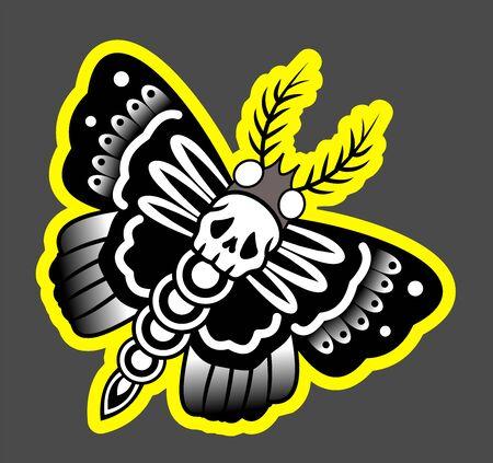 Night Butterfly Dead Head, Moth