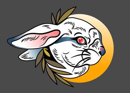 Vector portrait BUNNY character, mascot