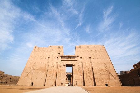 Main gate of Horus temple in Edfu, Egypt