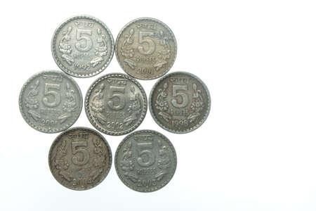 five rupee: five rupee indian coins
