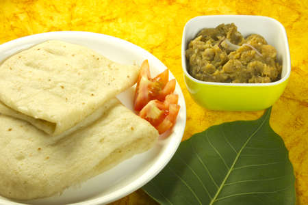 Chola Kulcha is an indian street food Stock Photo - 14797434