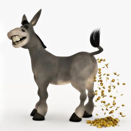gain money: 1 Vache de trésorerie Banque d'images