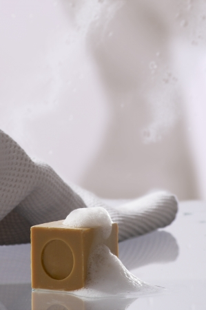 Soap with foam