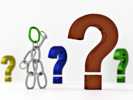 Chain male Question 2 Standard-Bild