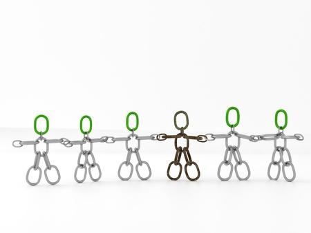 Males chain integration Standard-Bild